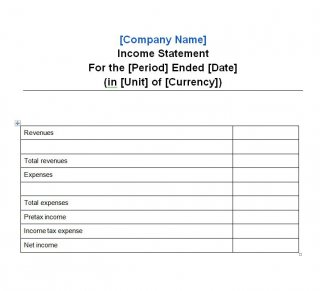 Basic Profit And Loss Statement Template Free from bestytemplates.com