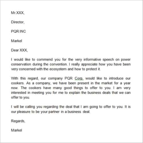 Company Introduction Letter For New Business from bestytemplates.com