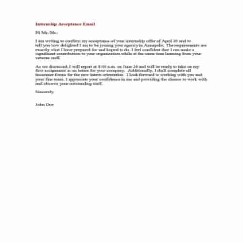 Offer Letter Acceptance Email Templates from bestytemplates.com