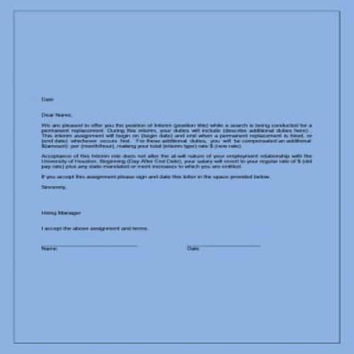 Formal Job Acceptance Letter from bestytemplates.com