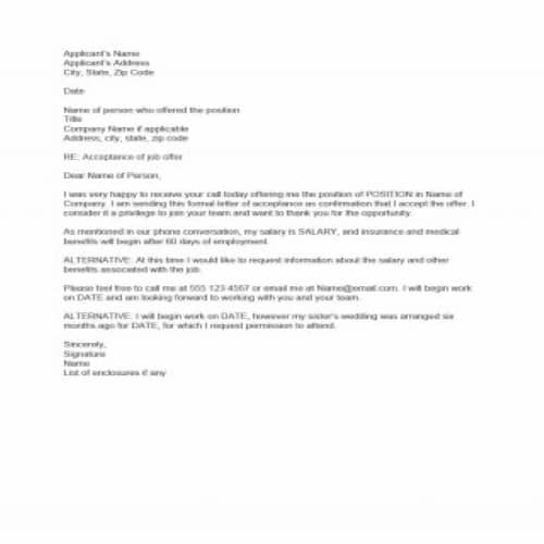 Employment Offer Letter Examples from bestytemplates.com