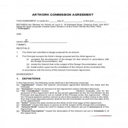 42 Practical Commission Agreement Templates Besty Templates