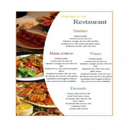 34 Attractive And Editable Restaurant Menu Templates Besty Templates