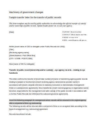 10  Ownership Transfer Letter Templates For Free  U2013 Besty